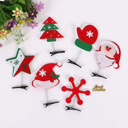 Wholesale free stocking clips - 2016 Hot Popular Creative Christmas Spring Folder Hairpin Hair Clips Hair Accessories Cute New Design free shipping in stock