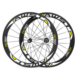 Wholesale 18 Rear - AWST HOT sale 50mm 700C brake carbon wheels road bicycle carbon wheels clincher tubular road wheelset chinese bicycle wheels basalt surface