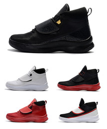 Wholesale Super Fly Basketball Shoes - 2017 New Super Fly 5 PO X mens Basketball shoes all black white red super fly 5 Griffin Sports shoes sneaker eur 40-46