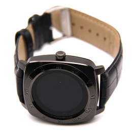 Wholesale mp3 watch phone - x3 smart watches for android phones smartwatch Bluetooth Smart Wrist Watch MTK6261D Luxury Leather Watchband for Android Monitor Mp3 Mp4 Sim