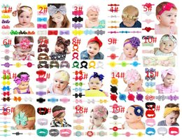 Wholesale Black Child Photography - Infant Bow Headbands Girl Flower Headband Children Hair Accessories Newborn Bowknot Flower Hairbands Baby Photography Props