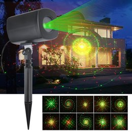 Wholesale Christmas Light Shows Wholesale - LED Projector Lawn Lamp Dynamic Steady Spotlight 3 Light IP65 Waterproof Projector Light for Home Christmas Party Show Festival Landscape