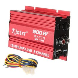 Wholesale Car Audio Mini Amplifiers - Wholesale 500W MA-150 DC 9-14V 2-CH Mini Hi-Fi Stereo Audio Amplifier Amp Subwoofer For Car Motorcycle CEC_836