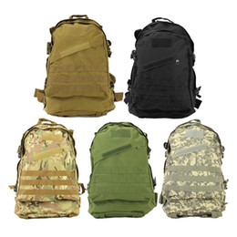 Wholesale Traveling Hiking Backpack - 10pcs New Unisex Sports Outdoors Molle 3d Military Tactical Backpack Rucksack Bag Camping Traveling Hiking Trekking 40L Free DHL Fedex
