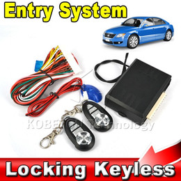 Wholesale Auto Remote Entry - Wholesale- 2016 Hot Sale Car Auto Remote Central Kit Door Lock Locking Vehicle Keyless Entry System With Remote Controllers Newest