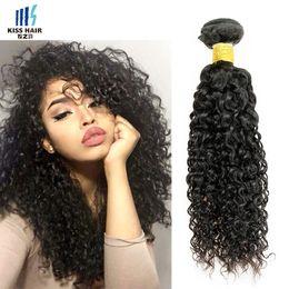 Wholesale jerry curls - 10 Bundles Wholesale 1kg Jerry Curl Virgin Hair Afro Kinky Curly Brazilian Peruvian Malaysian Raw Virgin Indian Human Hair Weave 8-28inch