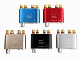 Wholesale Mini Stereo Amps - 2017 Lastest Nobsound NS-10G TPA3116 Bluetooth 4.0 Mini Digital Amplifier Stereo HiFi Power Amp 50W*2 FREE SHIPPING