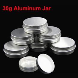 Wholesale Aluminium Cosmetic Containers - 50pcs lot 30g Empty Cream Pomade Aluminium Jar Tin Box for Cosmetic Container Packages pote de cosmeticos vazios PJ30 15
