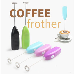Wholesale Mini Drink Mixer - Hand Mixer Popular Mini Electrical Eggbeater Coffee Milk Drink Whisk Mixer Mini Portable Stainless Steel Kitchen Gadgets Kitchen Gift