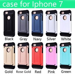 Wholesale Cell Phone Case Note - For Apple iphone 7 plus case 6 6S iphone7 Plus Samsung Galaxy Note 7 S7 edge Steel armor TPU PC cell phone protective covers