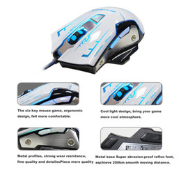 Wholesale Game Ends - K-RAY M738 High-End Game Mouse USB PC Wired Gaming Mouse,Ergonomic 2400 DPI Metal Chassis Game Mice,6 Buttons white