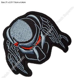 """Wholesale Alien Series - 3"""" PREDATOR ALIEN ARNOLD Movie TV Series Embroidered iron on patch cosplay transfer COMICS APPLIQUE"""