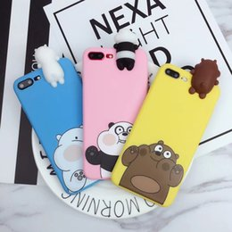 Wholesale Phone Covers Bears - Cute 3D toys bears brothers phone Cases For iphone 6 6s 6plus 7 7Plus Cartoon soft silicon cover for iphone X 8 8plus