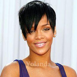 Wholesale Wigs Bob Cut - Pixie Glueless None Lace Front Human Hair Wigs With Bangs Human Hair Bob Wigs For Black Women Short None Lace Cut Hair Wigs