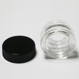 Wholesale Glass Food Containers Lids - Unbreakable Transparent small glass jar 5ml food grade wax oil extract bho glass container with lid