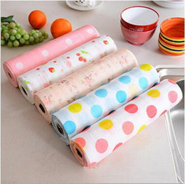Wholesale Printing Paper Stickers - Cabinet Mats Printed Anti Bacterial Moisture Cupboard Paster Water Proof Non Slip Sticker Mat Drawer Pad Home Table Paper CCA6611 100pcs