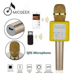 оптовые беспроводные микрофоны для караоке Скидка фабрика Оптовая оригинальный MicGeek Q9S 3D стерео Bluetooth микрофон беспроводной домашний караоке динамик КТВ отличный эффект модернизированный микрофон