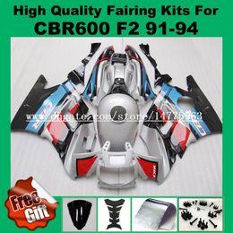 Wholesale 92 Honda F2 - Fairing kits For HONDA CBR600 F2 91 92 93 94 CBR600RR F2 1991 1992 1993 1994 ABS Fairing blue Sirve Black Red +9gfits