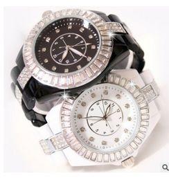 Wholesale Crystals Diamond Rhinestones Watch - New Arrival Famous Brand Women Big Dial Diamond Watch Lady Luxury Jewelry Dress Watch Rhinestone Bracelet Full Crystal Bangle.