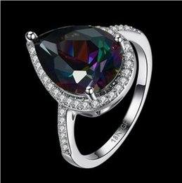 Wholesale Mystic Fire Topaz Rings - Jewelry Palace Rainbow Fire Mystic Topazs Ring Trillion Concave Cut Sterling Silver Vintage Charm Fashion For Women Gift LKN18KRGPR879-C-8
