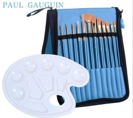 Wholesale Old Hair Brush - 12pcs pack Different Sizes Nylon Hair Paint Brush Set For Watercolor Acrylic Oil Painting Brushes Drawing Art Supplies Free Delivery