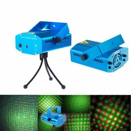 Wholesale Dj Lit Dance Floors - Christmas mini Green&Red Laser DJ Party Stage Light 150mW Disco Dance Floor Lights Mini Laser Stage Lighting