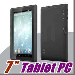Tableta dhl 8gb online-40X DHL 2016 7 PC capacitiva de la tableta de la cámara del androide 4.4 de la base del patio de Allwinner A33 7GB 512MB WiFi EPAD Youtube Facebook Google A-7PB