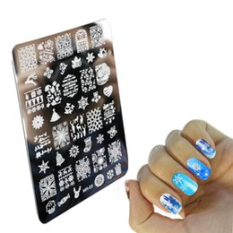 Wholesale Image Decoration - Wholesale- Nail Art Image nail art design Stamp Stamping Plates Manicure Template Christmas decoration Designs