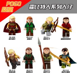 Wholesale Toy Lord Rings - 120pcs Mix Lot PG8027 High Lord of the rings rings hobbit elf Prince medieval assembly minifigures foreign trade toys