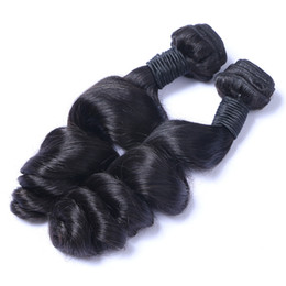Wholesale Loose Wave Remy Weave - Brazilian Virgin Human Hair Loose Wave Unprocessed Remy Hair Weaves Double Wefts 100g Bundle 2bundle lot Can be Dyed Bleached
