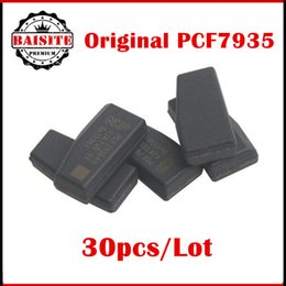 Wholesale Gm Sells Saab - 2017 best selling 30pcs lot original pcf7935 pcf7936as transponder chip ceramic id44 chip blank free shipping