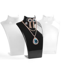 Wholesale Stand Holder Acrylic - Promotion 3pcs Set Fashion Jewelry Display Acrylic Necklace Holder Rack
