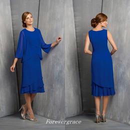 Eleganti abiti da sposa per la madre della sposa in chiffon e madrina, abiti da cerimonia, madrine, abiti da sera, abiti da sera, abiti da sera, tagliati su misura cheap elegant navy blue suits women da elegante blu navy si adatta alle donne fornitori