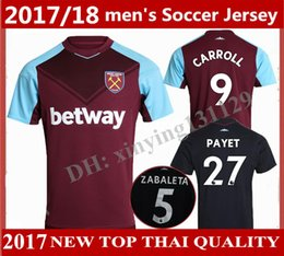 Wholesale Top Thai West Ham United home soccer jersey FEGHOULI CARROLL SAKHO AYEW PAYET West Ham United Away football shirt