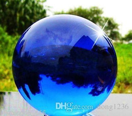 Wholesale Natural Crystal Ball Sphere - New Natural Quartz Blue Magic Crystal Healing Ball Sphere 80MM+Stand