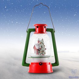 Wholesale Christmas Decorations For Windows - LED Christmas snow Lamps Portable Lamp Lighting Novelty Gift Christmas Decoration for store window scene decorate creative angel Christmas