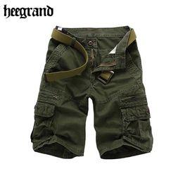 Wholesale Grand Big - Wholesale-HEE GRAND Cargo Shorts Men 2016 New Stylish Summer Shorts Men's Casual Big Pockets Journey Shorts Trousers MKD657