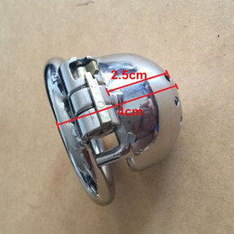 """Wholesale Stainless Steel Chastity Belt Shortest - New Lock Design 25mm Cage Length Stainless Steel Super Small Male Chastity Devices 1"""" Short Cock Cage For Men"""
