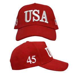 Wholesale Red Patriots Hat - Make America Great Again Hat Donald Trump Caps GOP Republican Adjust Baseball Cap Patriots Hat Trump for President Hat free shipping