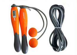 Wholesale Adjustable Skip Rope Counter - Adjustable Portable Wireless Jump Rope Calorie Counter Digital LCD Skipping Rope Fitness Equipment Orange