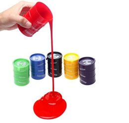 Wholesale Drums Kid - PrettyBaby Festival Novelty Children Adult Toy oil Drums Trick Paint Barrel Slime April Fools Day Halloween Gag Tricky Toys