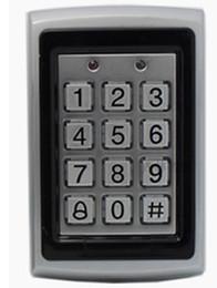 Wholesale Card Id Door Lock - Wholesale- New arrival single waterproof metal rfid standalone door access control keypad ID card +password door lock wg26 with 1000users