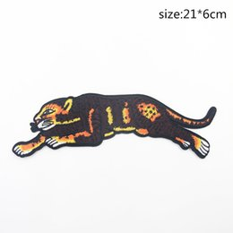 Wholesale Garment Accessories Patches - 1 Piece Of Tiger Patches,Leopard Patch Embroidered Sew-On Patches For Clothes Garment Applique DIY Accessory