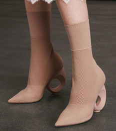 Sandales gladiateur mi-mollet en Ligne-2017 été robe chaussures legging bottes mi bottines pointe bout des orteils chaussures fretwork talon gladiateur sandales bottes dames