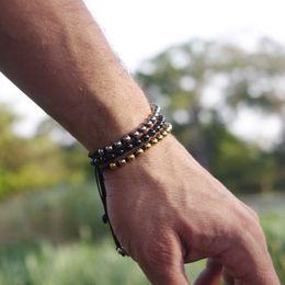 Deutschland Anil Arjandas Mode Perlenarmband Gold Silber Schwarz Rose Gold Überzogene 316L Edelstahl Perlen Armband ODM OEM Custom Großhandel supplier rose gold fashion beaded bracelet Versorgung