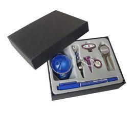 Wholesale Marker Balls - Golf Gift Set Golf Tee Ball Liners Divot Tool Hat Clip Ball Marker free shipping