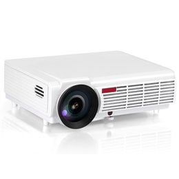Wholesale Projector T - Wholesale-2016 New 3000lumens Android 4.4 Full HD LED Wifi Smart Projector Home Theater LCD Video Proyector Digital TV Beamer DVB-T