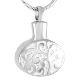 Wholesale Memorial Life - IJD9387 316L Stainless Steel Waterproof Hollow Tree Of Life Pattern Urn Pendant Necklace Memorial Ashes Keepsake Cremation Jewelry
