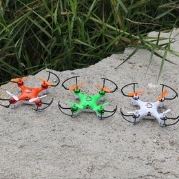 Wholesale Micro Mini Rc Helicopters - Mini Drone 2.4GHz 4-Axis Aircraft Series RC Micro Quadcopter Without Head Mode Flying Toy LED Light Helicopter For Children Gift