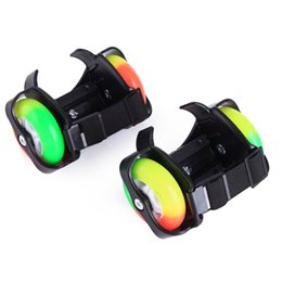 Wholesale Wholesale Shoes Wheels - Wholesale For Children Rainbow Flashing Roller Small whirlwind pulley flash wheel Skate Shoes Flashing Roller shoes